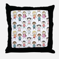 School Kids Throw Pillow