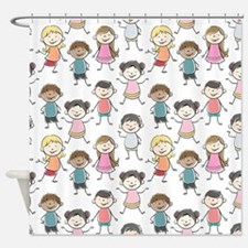 School Kids Shower Curtain