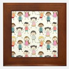 School Kids Framed Tile