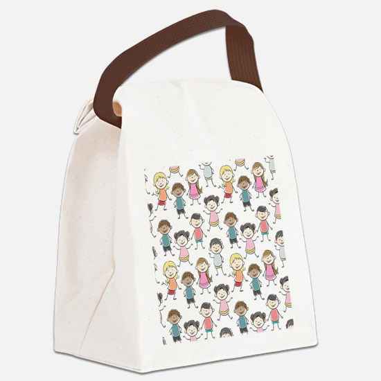 School Kids Canvas Lunch Bag