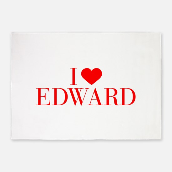 I love EDWARD-Bau red 500 5'x7'Area Rug