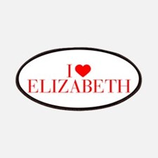 I love ELIZABETH-Bau red 500 Patch