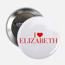 "I love ELIZABETH-Bau red 500 2.25"" Button (10 pack"
