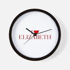 I love ELIZABETH-Bau red 500 Wall Clock