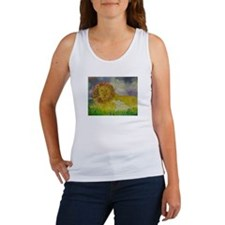 Cute Lion and lamb Women's Tank Top