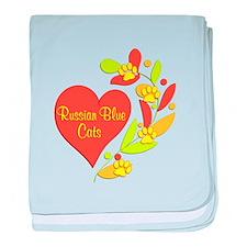 Russian Blue Heart baby blanket