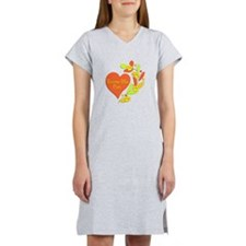 Russian Blue Heart Women's Nightshirt