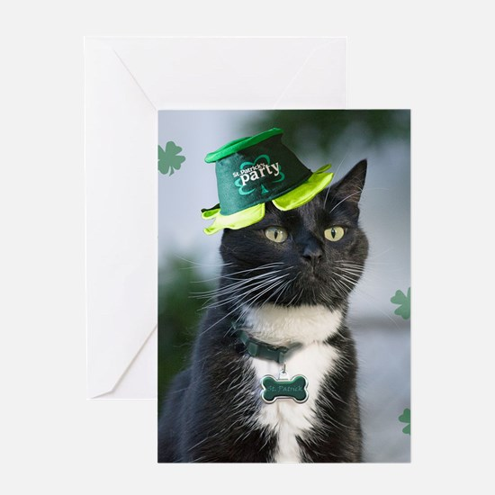 St. Patrick kitty Greeting Cards