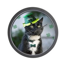 St. Patrick kitty Wall Clock