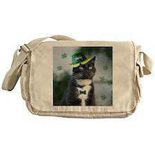 St. Patrick kitty Messenger Bag