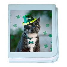 St. Patrick kitty baby blanket