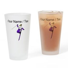 Custom Ski Trick Drinking Glass
