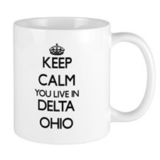 Keep calm you live in Delta Ohio Mugs