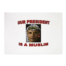OBAMA THE MUSLIM 5'x7'Area Rug
