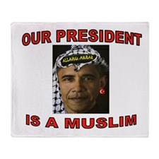 OBAMA THE MUSLIM Throw Blanket