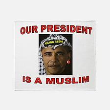 OBAMA THE MUSLIM Throw Blanket
