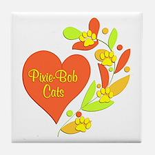 Pixie-Bob Heart Tile Coaster
