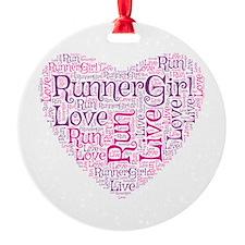 Runnergirl Heart Ornament