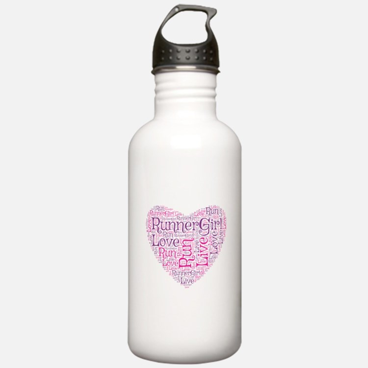 Runnergirl Heart Water Bottle