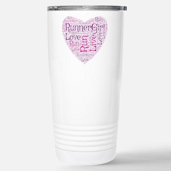 Runnergirl Heart Stainless Steel Travel Mug