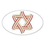Star of Bacon Oval Sticker