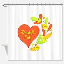 Ragdoll Heart Shower Curtain