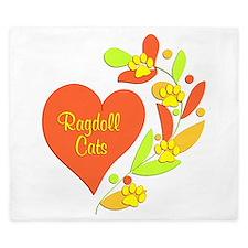 Ragdoll Heart King Duvet