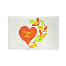 Ragdoll Heart Rectangle Magnet