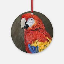Scarlet Macaw Round Ornament