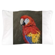 Scarlet Macaw Pillow Case