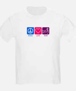 Peace-Love-Run Kids T-Shirt