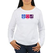 Peace-Love-Run Long Sleeve T-Shirt
