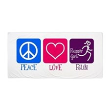 Peace-Love-Run Beach Towel