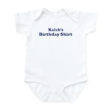 Kaleb birthday shirt Infant Bodysuit