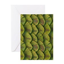Feather Ends Greeting Card