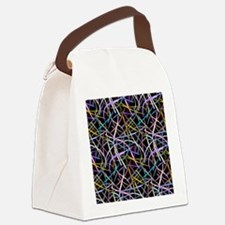 Floating Strips Canvas Lunch Bag