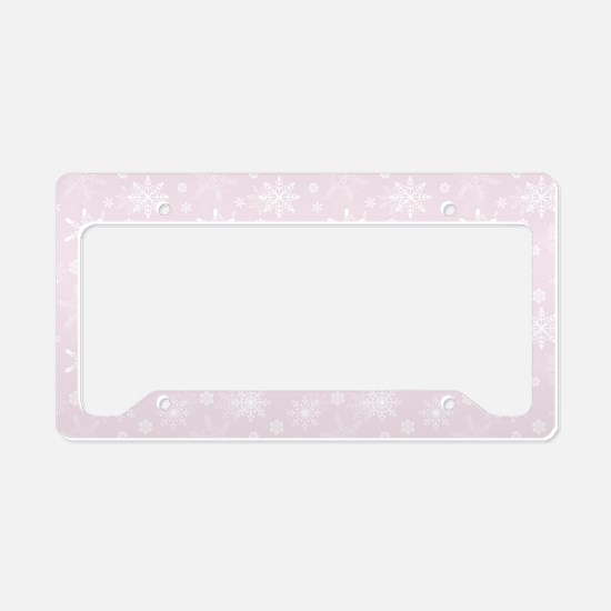 Winter Blush License Plate Holder