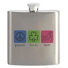 Peace Luck Run Flask