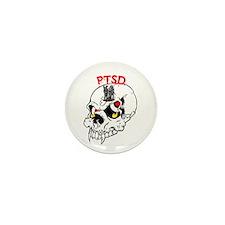 PTSD SKULL Mini Button (100 pack)