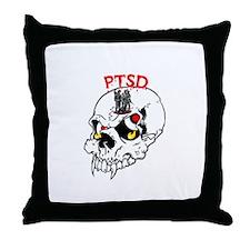 PTSD SKULL Throw Pillow