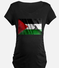 Palestine Flag Maternity T-Shirt