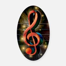Clef Oval Car Magnet