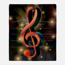 Clef Throw Blanket