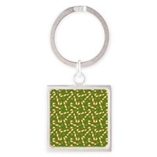 Most Popular Candies Square Keychain