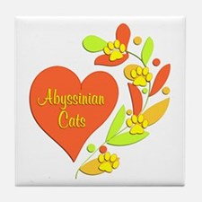 Abyssinian Heart Tile Coaster