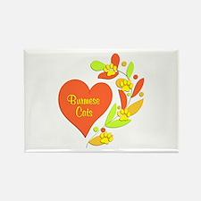 Burmese Heart Rectangle Magnet