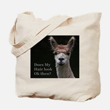 Alpaca with funny hairstyle Tote Bag