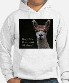Alpaca with funny hairstyle Hoodie