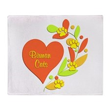 Birman Heart Throw Blanket