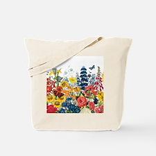 modern vintage flowers Tote Bag